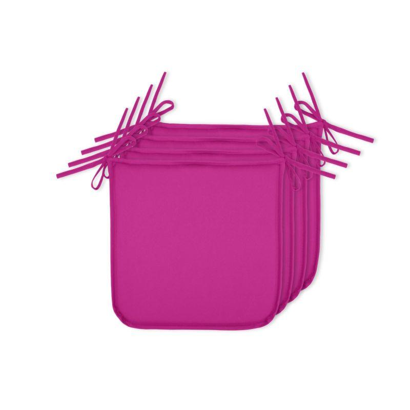 Набор ярко-розовых подушек для стула Sunny 4 шт. - фото