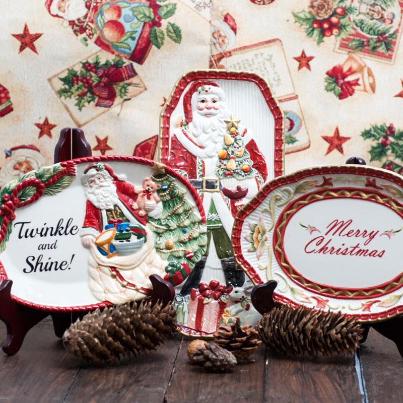 Новогодняя посуда Merry Christmas - фото