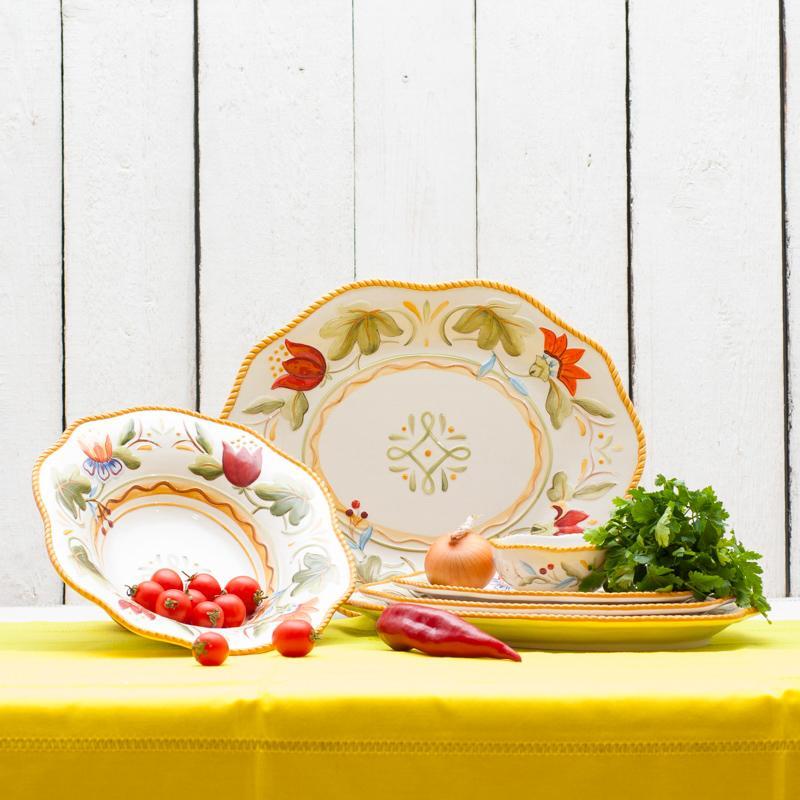 """Красивая посуда коллекции """"Тюльпаны"""", Италия - фото"""