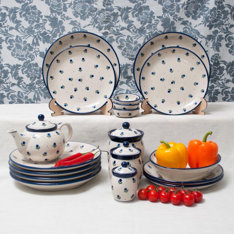 """""""Голубика"""" - коллекция тарелок и пиал, украшенных ягодой голубикой - фото"""