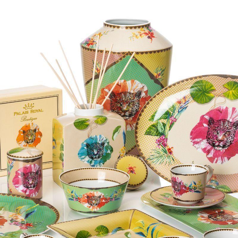 Коллекция фарфоровой и меламиновой посуды и декора с экзотическим принтом Ete Savage - фото