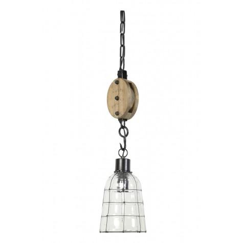 Подвесная лампа стеклянная лофт - фото