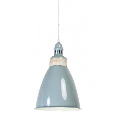 Подвесной светильник колокол серый - фото