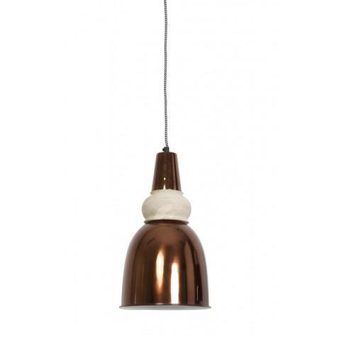 Подвесной светильник в стиле лофт медный  - фото