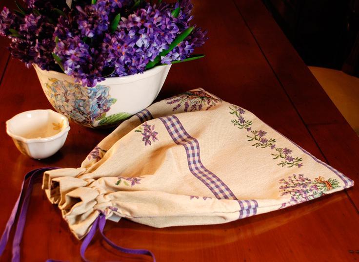 """Гобеленовый мешочек для хлеба """"Лаванда"""" - фото"""