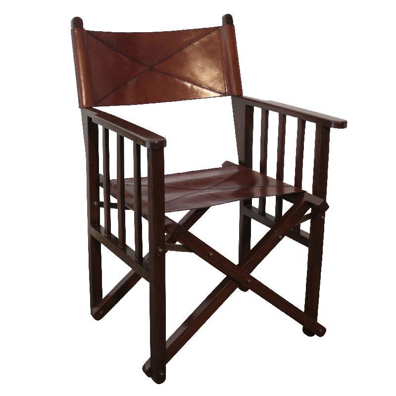 Кресло из натуральной кожи - фото