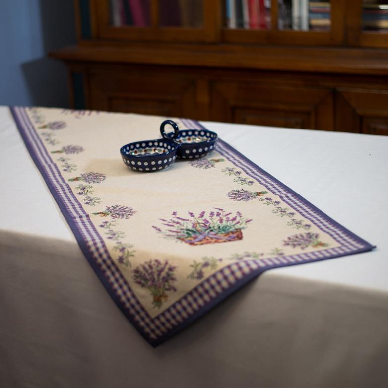 """Гобеленовый прямоугольный раннер с нежными цветами """"Лаванда"""" - фото"""