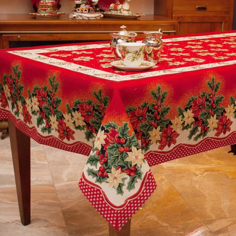 Праздничный венок - коллекция гобеленового текстиля на Новый Год - фото