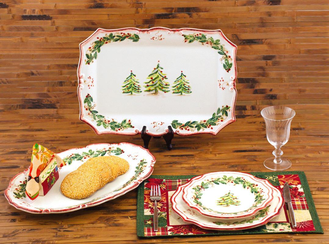 Керамическая посуда на Новый Год Xmas - фото
