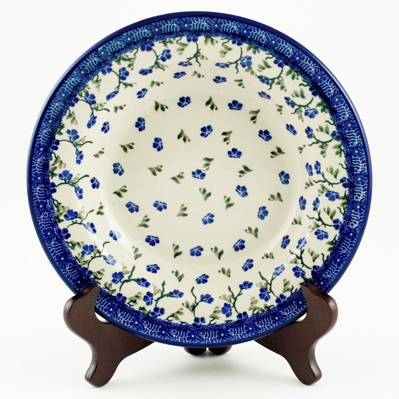 "Тарелка для супа с синим орнаментом ""Летний ветерок"""
