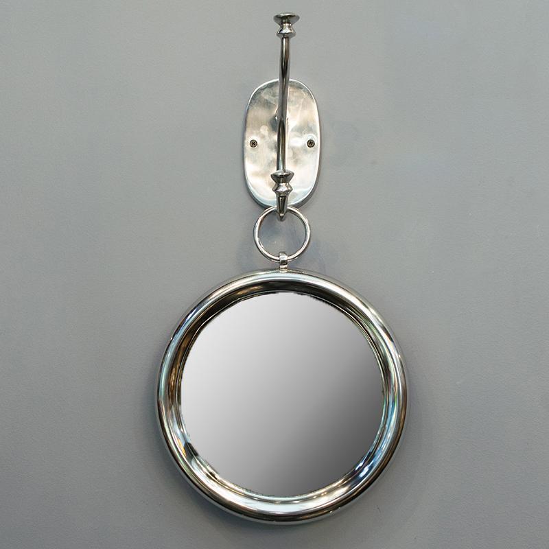 Зеркало настенное круглое из алюминия HazenKamp