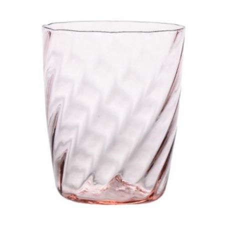 Стакан рельефный из розового стекла Torson