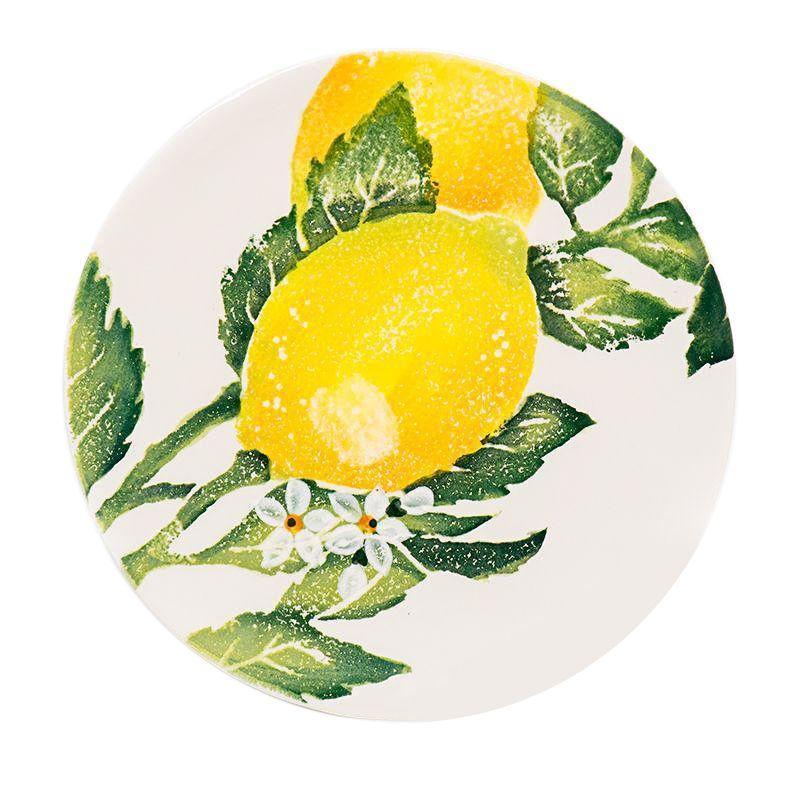"Тарелка для салата с ярким рисунком ""Солнечный лимон"""