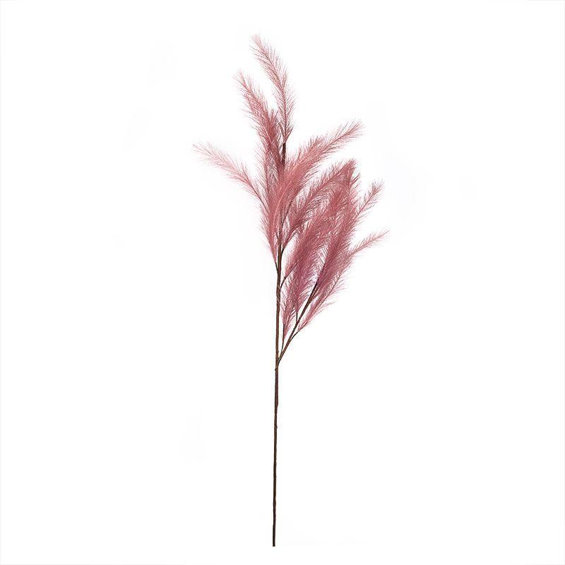 Искусственная пампасная трава темно-розового цвета