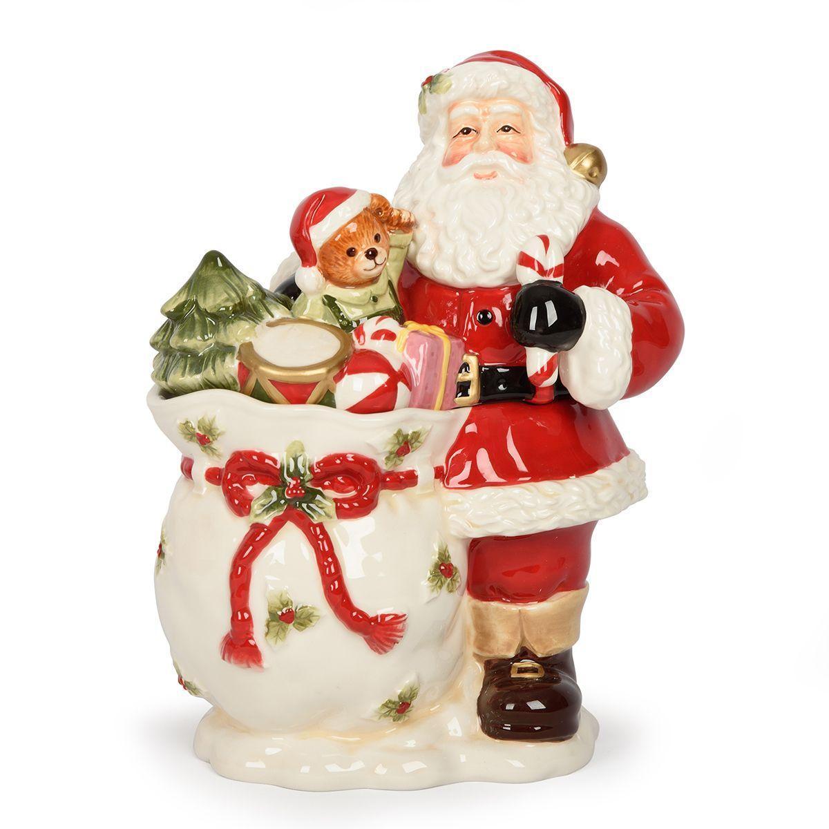 Новогодняя шкатулка в виде Деда Мороза с мешком подарков