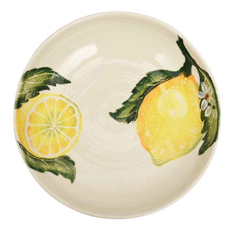 "Тарелка для супа на летнюю тематику ""Солнечный лимон"""