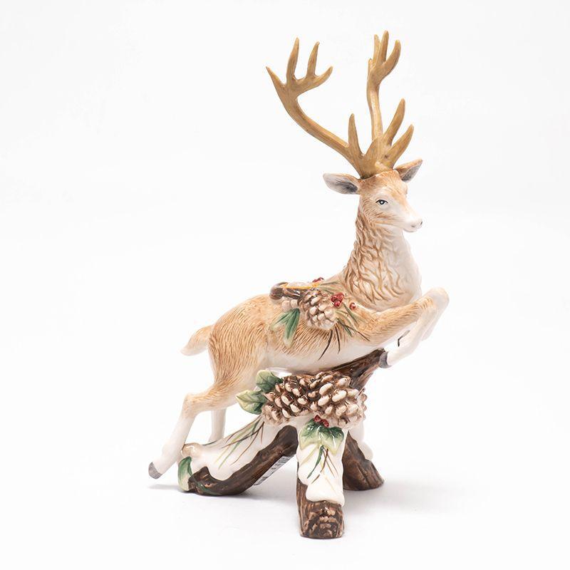 """Подсвечник-олень """"Лесной мороз"""" с шишками"""