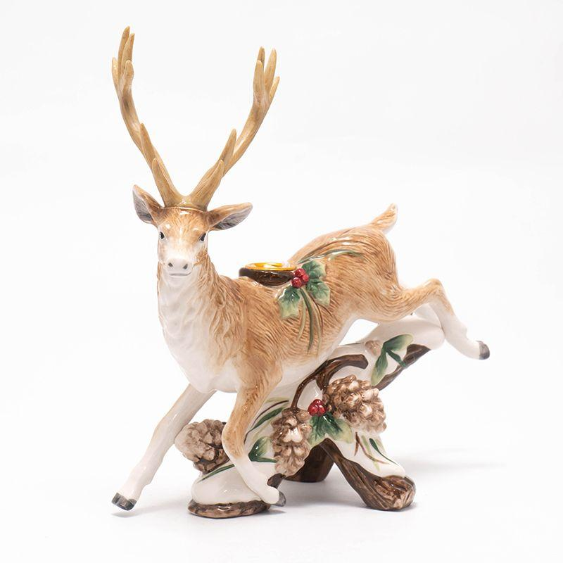 """Подсвечник в форме оленя """"Лесной мороз"""""""