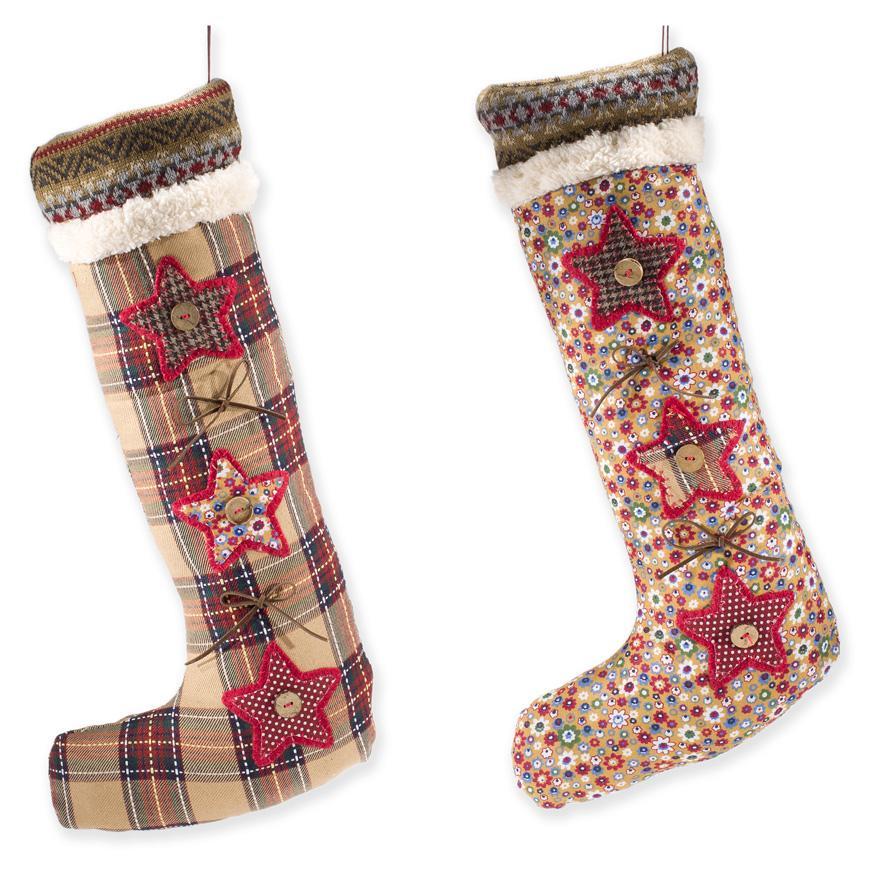Носочки для подарков с декором в виде звездочек