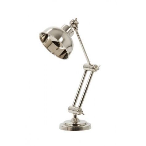 Лампа настольная никель