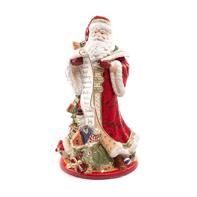 """Статуэтка Дед Мороз со списком """"Семейные традиции"""""""