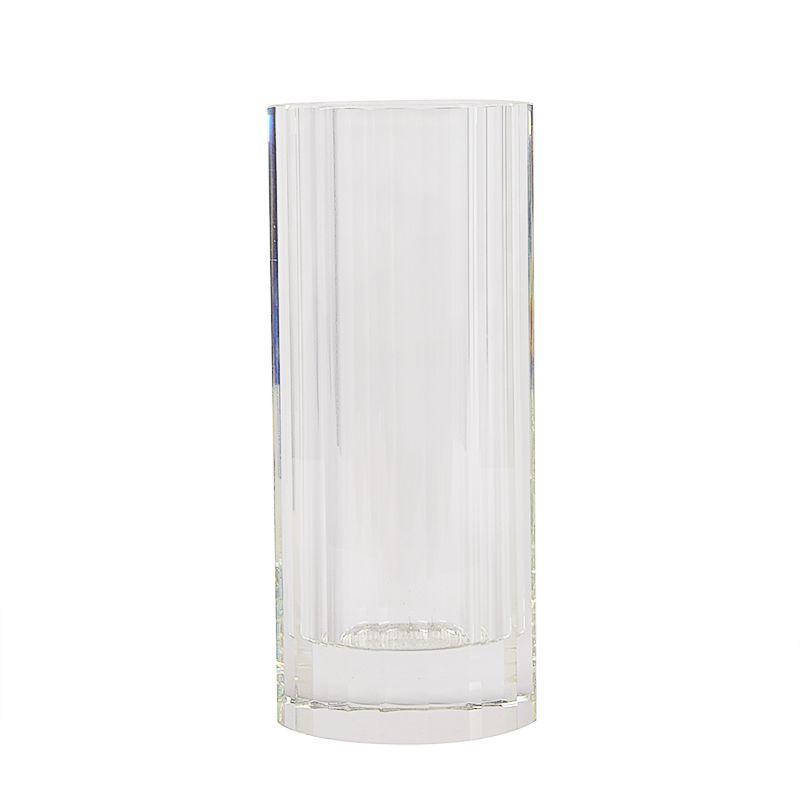Рельефная хрустальная ваза в форме цилиндра Abhika