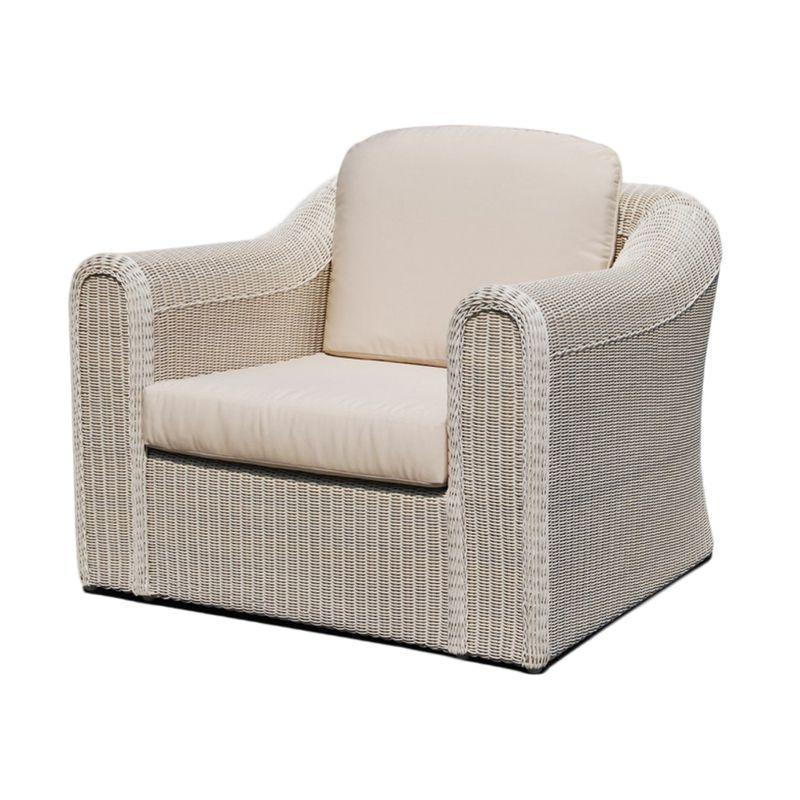 Кресло из плетеного ротанга с мягкой подушкой Calderan