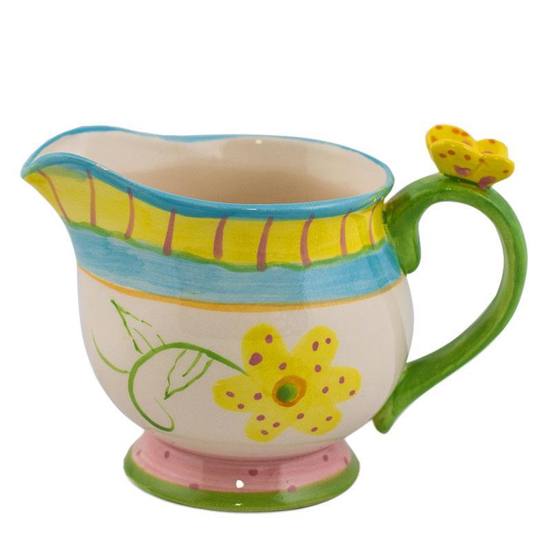 Молочник в нежных пастельных цветах