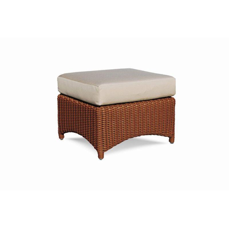 Плетеный пуф с мягкой подушкой Ebony
