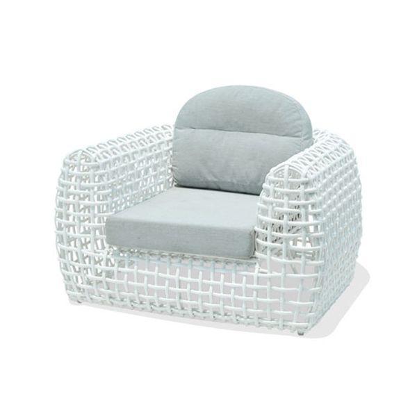 Балконное кресло из ротанга белого цвета Dynasty