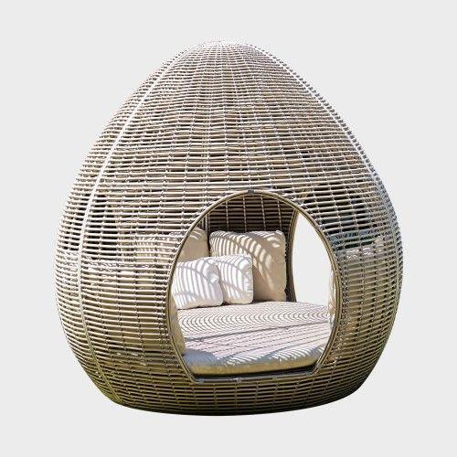 Круглый диван с навесом из ротанга Bellen