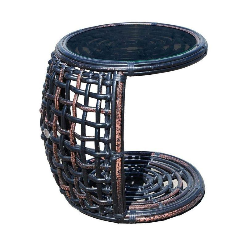 Приставной столик черного цвета Dynasty Black Mushroom