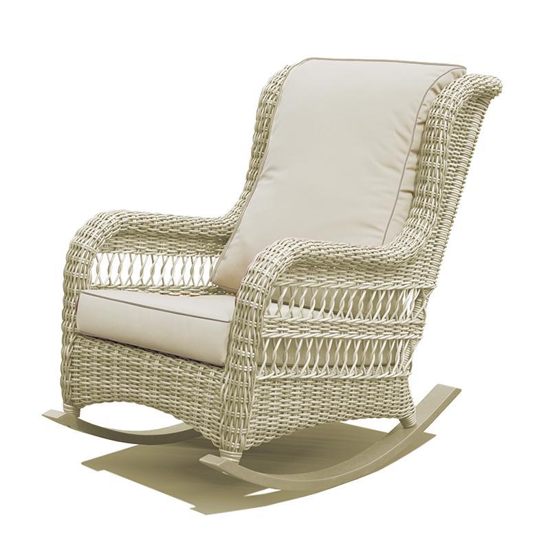 Кресло-качалка белого цвета Arena
