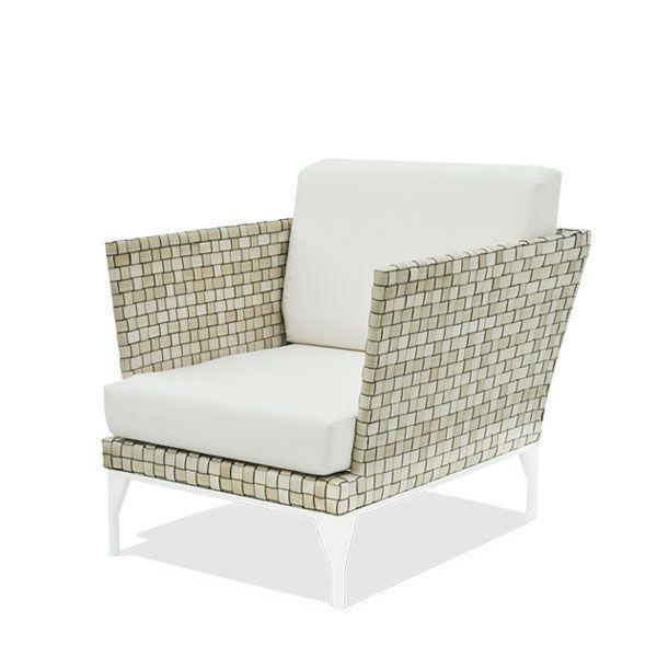 Кресло балконное из ротанга с мягкой подушкой Brafta