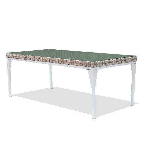 Стол обеденный средний со стеклянной столешницей Brafta