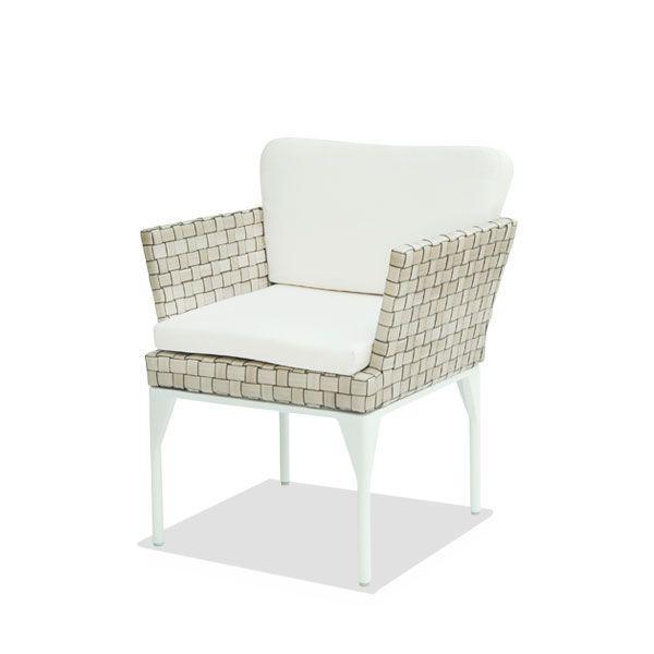 Обеденное кресло с плетением из полимерного ротанга Brafta