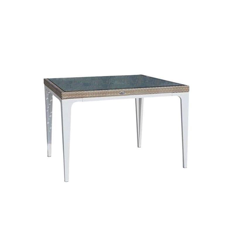 Квадратный обеденный стол из техноротанга Heart Seashell