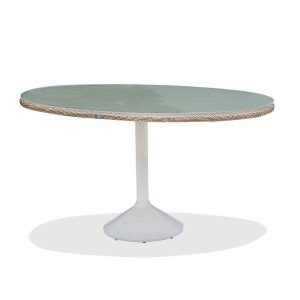 Круглый обеденный стол со столешницей из стекла Journey