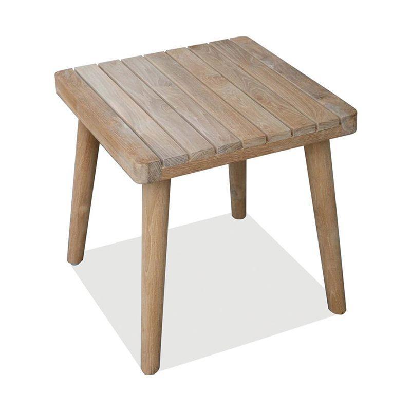 Квадратный приставной столик из дерева POB