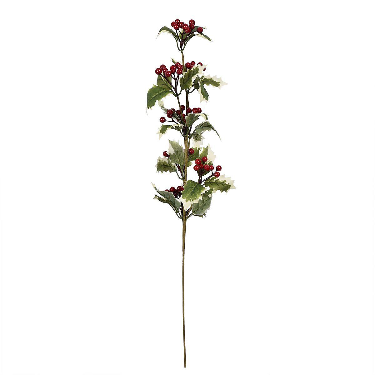 Декоративная ветка Падуба с красными ягодками