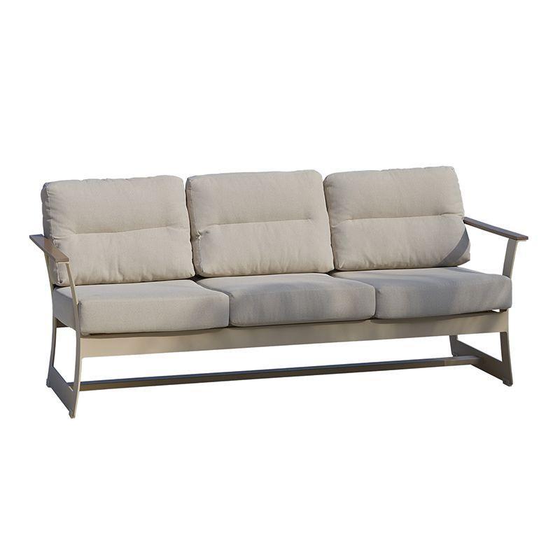 Диван 3-местный с мягкими бежевыми подушками Rhone