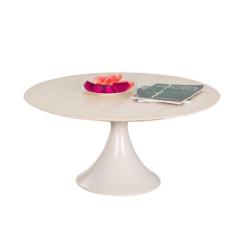 Столик кофейный круглый бежевого цвета Olivia