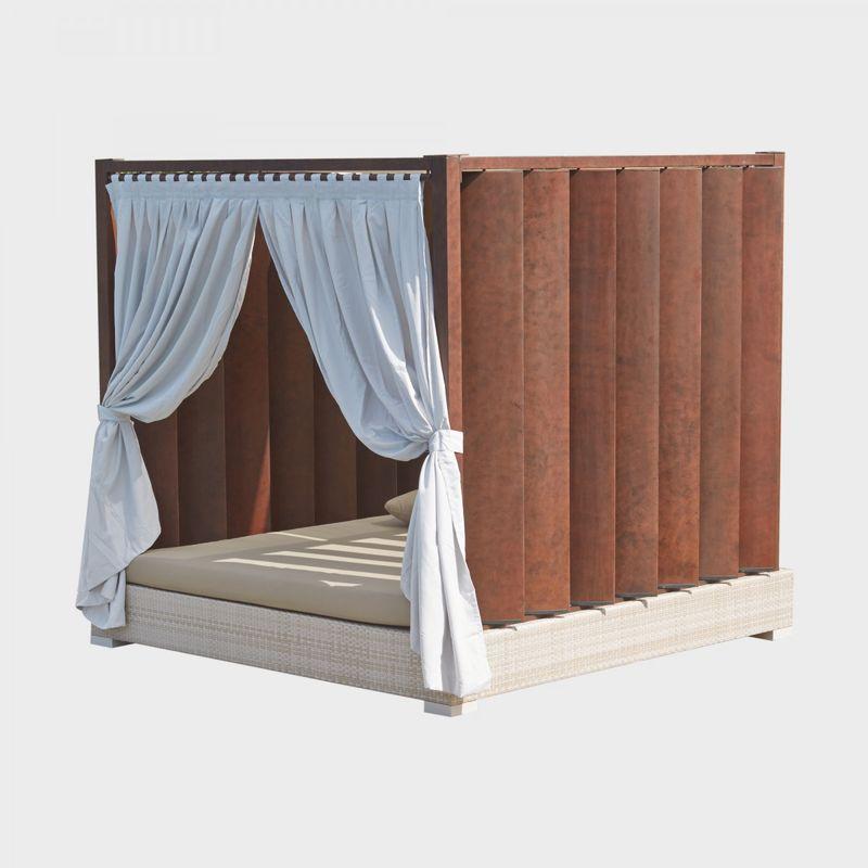 Плетеный диван-кровать с мягким матрасом Macarena