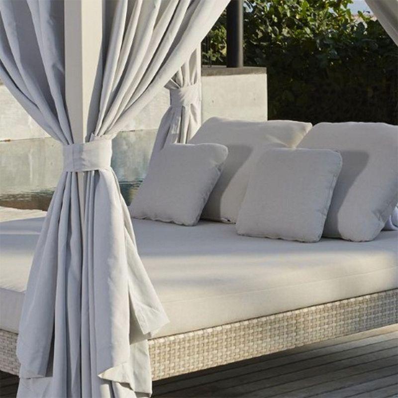 Лаунж-диван из техноротанга с матрасом и подушками Heart
