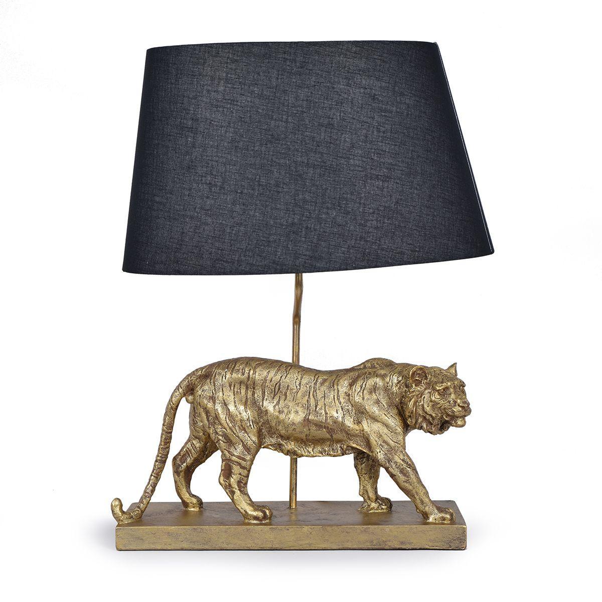 "Настольная лампа с овальным черным абажуром ""Тигр"" Clarte"