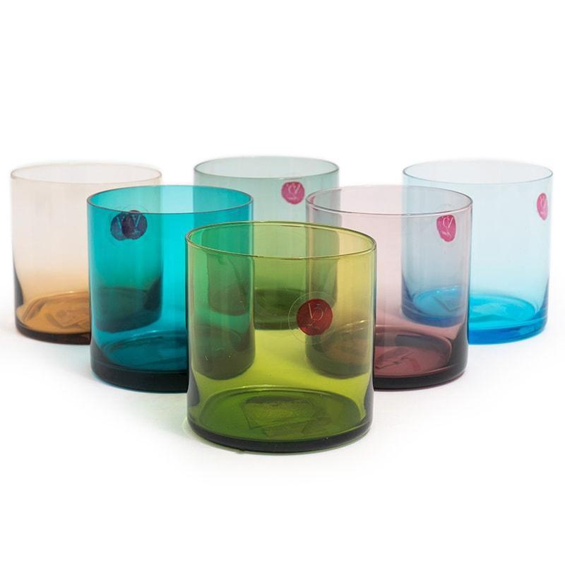 Набор разноцветных стаканов Villa d'Este Cromiai 6 шт.