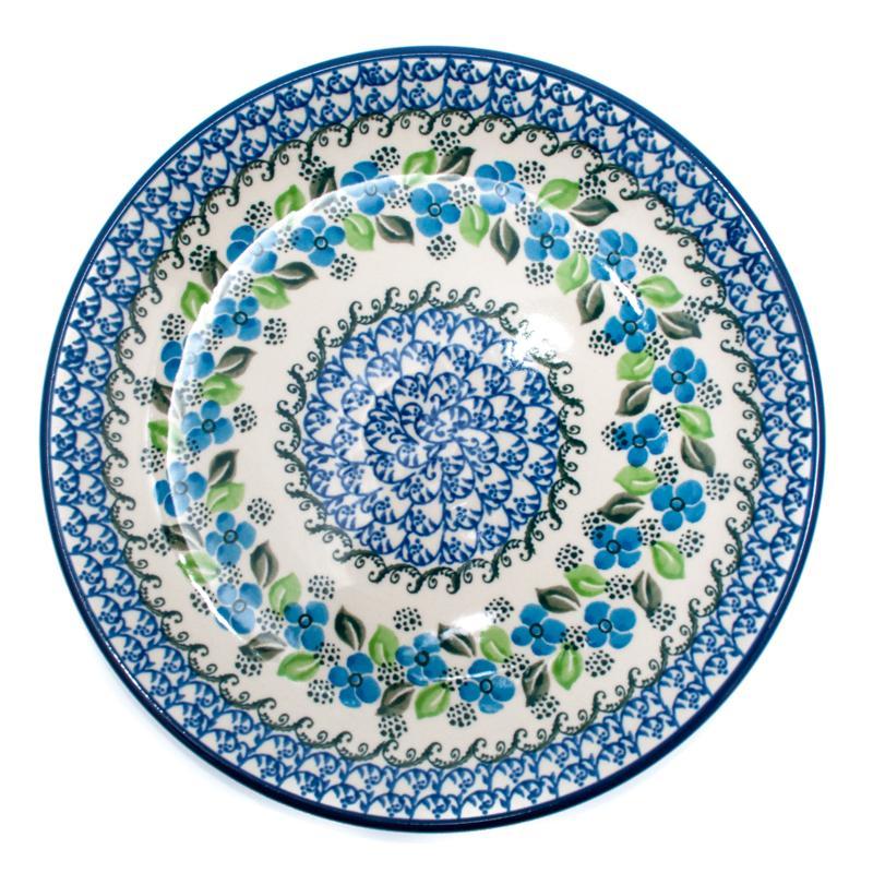 """Обеденная тарелка с синим цветочным орнаментом """"Вербена"""""""
