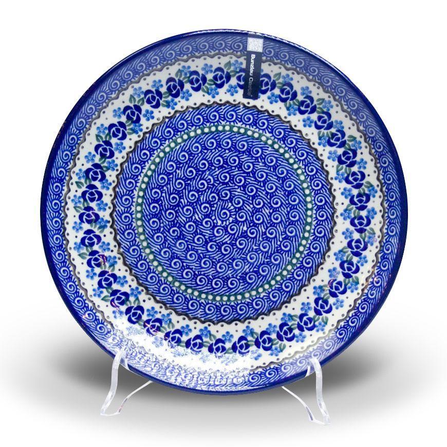 """Тарелка обеденная из прочной керамики """"Озерная свежесть"""""""