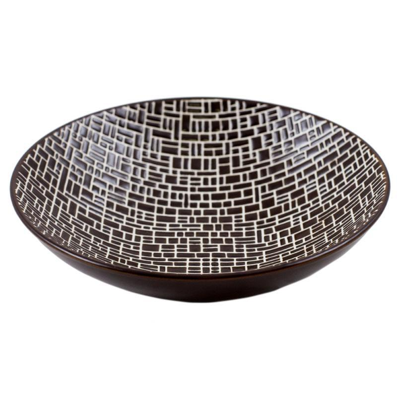 Суповая тарелка с геометрическим узором Cotton