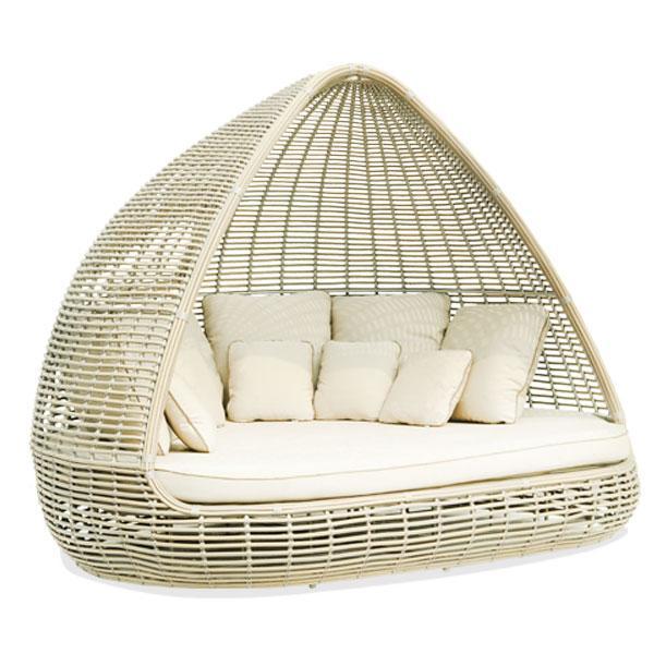 Лаунж-диван с навесом из искусственного ротанга Shade